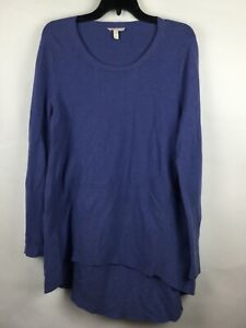 Eileen Fisher Organic Cotton High Low Hem Pullover Sweater Size M Lilac Light $34.99