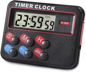 Kitstar Digital Timer for Kitchen Cooking Magnetic Countdown Stopwatch Black