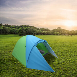 US 4 Person Waterproof Double Layer Tent Pop Up Family Outdoor Camping Rain Fly