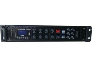 OWI HP AMP 250BT 6 Ch High Power Mixer Amplifier with MP3 Player USB Bluetooth $575.99