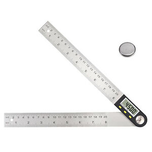 8 inch Digital Angle Finder 360 Degree Stainless Steel Woodworking Protractor $20.00