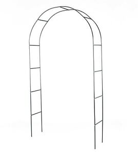 Arched Metal Garden Trellis Rustic Outdoor Home Accent Green