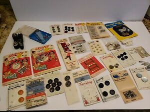 Lot of vintage sewing notions. Buttons snaps etc $13.50