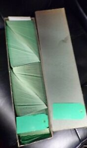 Vintage Dennison Green 2GC Hang Tags Set of 100 Heavy Cardstock Price Gift NEW $12.00
