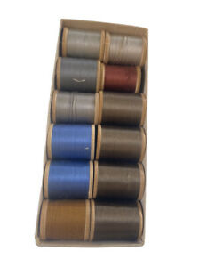 Lot Of 12 Rolls Of Vintage Thread Coats amp; Clarks Mercerized Sewing Blues Brown $28.50
