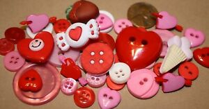 Buttons flowersshamrocks hearts for cardsscrapbook crafts and sewing $2.99
