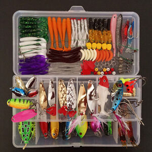 Fishing Accessories Kit With Fishing Swivels Hooks Sinker Weights Tackle Box