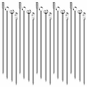 20PCS Cocktail Picks 4 Styles Cocktail Skewers Stainless Steel Martini