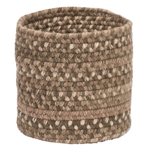 Acre Small Space Wool Basket Dark Toffee 10 In. X 10 In. X 8 In. $47.99