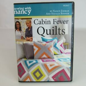 Sewing With Nancy Zieman DVD Log Cabin Fever Quilts 60 Minutes 2015 $19.99