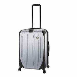 Mia Toro Italy Compaz Hard Side 24 Spinner Luggage SILVER One Size $208.04