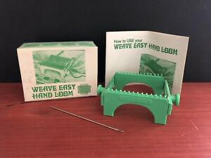 VTG 1971 Weave Easy Hand Loom Needle amp; Booklet In Original Box Easy To Use $19.95