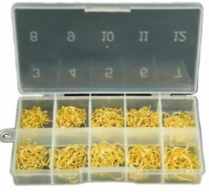 500pcs Sproat Fish Hooks 10 Sizes Asst. Black or Gold With Box High Carbon Steel