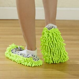 2 Pr. Dusting Slippers Washable Mop Shoes for Hardwood Floors