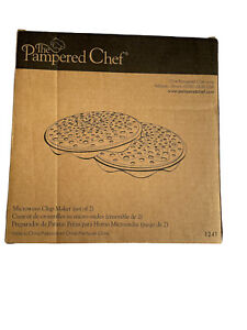 The Pampered Chef Microwave Chip Maker Set Of 2 #1241 Brand New