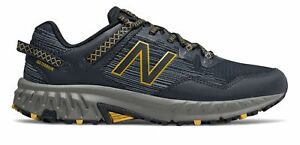 New Balance Men#x27;s 410v6 Trail Shoes Blue with Blue amp; Yellow