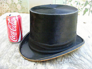 Antique TOP HAT Dunlap amp; Co KRAG Euliano CHH Banded BLACK Ceremonial RARE VG