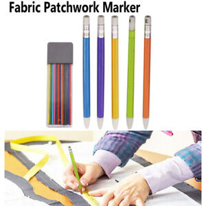 Tailors Chalk Pencil Patchwork Fabric Marker Pens with 12pcs Refills DIY Sewing $2.15