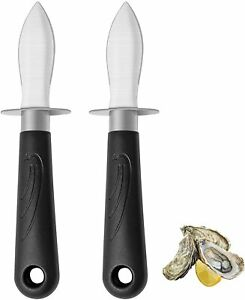 2 Oyster Knife Shucker Opener Shucking Tool Clam Shellfish Knives Seafood