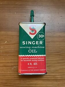 Singer Sewing Machine Oil Can 4 oz. Vintage 30 cent can $9.95