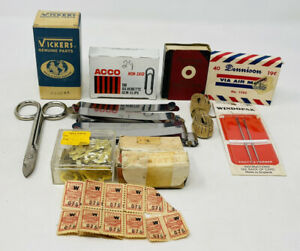 Vintage Sewing amp; Office Supply List Dennison Vickers Dividend Stamps Photomatic $14.99