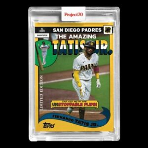 Topps PROJECT 70 Card 177 Fernando Tatis jr. by UNDEFEATED PRESALE $24.99