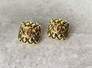 Chanel CC Quilted Square Stud Earrings $249.00