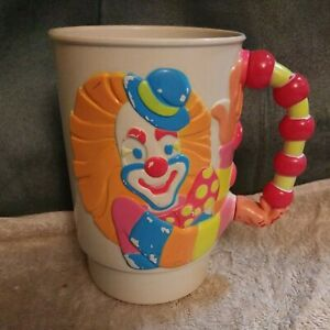 Vintage Ringling Brothers Barnum Bailey Circus Clown Cup 3D Mug Neon 1990 New $9.99