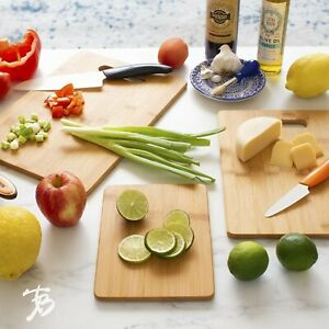 Piece Bamboo Serving and Cutting Board Set