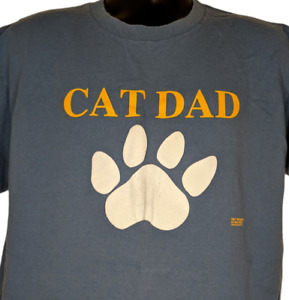 Cat Dad Vintage 90s Tshirt Size XL Made In USA $45.49