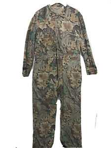 Vintage WALLS Advantage Camo Coveralls Hunting Size XL 46 48 Made in USA
