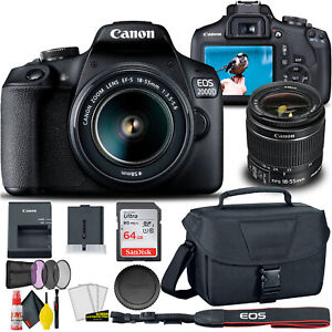 Canon EOS 2000D Rebel T7 DSLR Camera with 18 55mm Lens Creative Filter