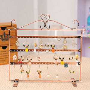 72 Holes Earrings Ear Studs Jewelry Display Rack Stand Organizer Case Holder Box $16.81