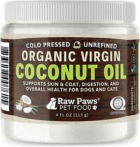 Organic Virgin Coconut Oil for Dogs amp; Cats 4 oz Supports Immune System Diges