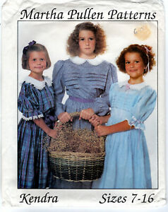 quot;Kendraquot; Dress ©1988 Martha Pullen Patterns Sewing Sizes: 7 16 $8.49