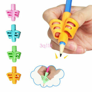 3Pcs 2 3 Finger Grip Silicone Kid Baby Pen Pencil Holder Help Learn Writing Tool
