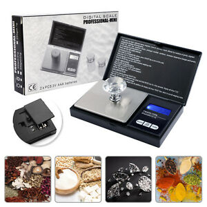 Digital Scale 1000g x 0.1g Jewelry Pocket Gram Gold Silver Coin Precise USA