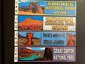 US National Park Bumper Sticker Made USA 11 Vtg Zion Arches Grand Bryce Canyon $14.99