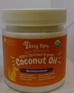 Zesty Paws Certified Organic Coconut Oil For Dogs For Skin amp; Coat