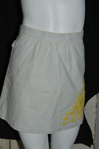 GIRLS JUICY COUTURE RIVIERA LIGHT BLUE PINSTRIPE SKIRT EMBROIDERED FLOWERS 14 $24.99