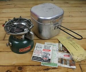 Coleman 502 700 Single Burner Sportster Camping Stove Cook Kit Papers