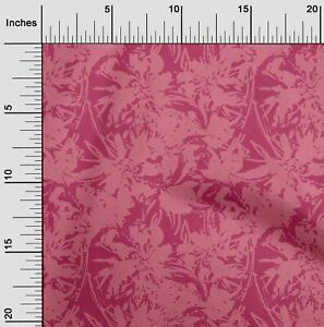 oneOone Cotton Flex Pink Fabric Florals Diy Clothing Quilting Fabric Ltc