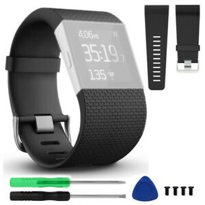 Replacement Band Strap Wristband Large For Fitbit Surge Watch Activity Tracker $7.48