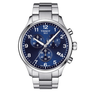 Tissot Classic Watch T116.617.11.047.01 Chronograph XL Blue Dial Box amp; Papers
