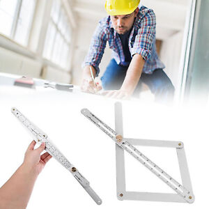 Corner Angle Finder Ceiling Artifact Tool Square Protractor Stainless Steel $7.35