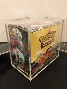Pokemon Booster Box Acrylic Magnetic Display Case with minor Factory Defects $12.99