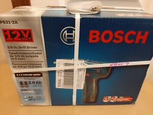 Bosch PS31 2A 12 Volt 3 8 Inch Max Lithium Ion Drill Driver Kit New Open Box $84.99