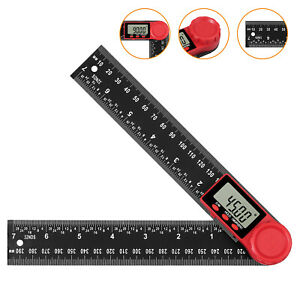 8 inch Digital Angle Finder Protractor Protractor Ruler LCD With Batteries $13.50
