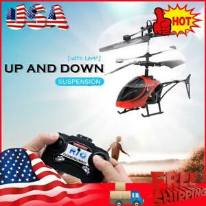 Mini USB Remote Control Helicopter Induction Aircraft RC Drone with Light USA
