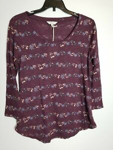 NWT Lucky Brand Long Sleeve Floral Women's Top Size S